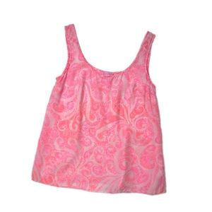 Lilly Pulitzer Silk Pink Cosmos Sleeveless Top S